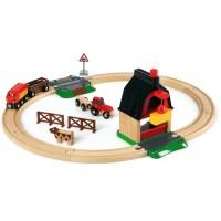 Дерев'яна залізниця BRIO Ферма (33719)