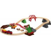 Игрушка железная дорога BRIO Ферма с животными (33984)