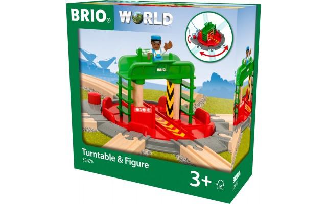 Поворотный перекресток для железной дороги BRIO на 7 направлений (33476)
