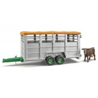 Іграшка причіп для перевезення тварин з коровою Bruder 02227