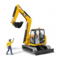 Іграшка міні-ексакаватор Caterpillar з водієм Bruder 02466