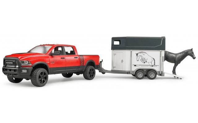 Пикап RAM 2500 Power Wagon с коневозкой и лошадью Bruder (02501)