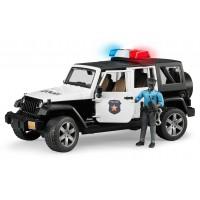 Игрушка Bruder внедорожник Jeep Wrangler с фигуркой полицейского (02527)