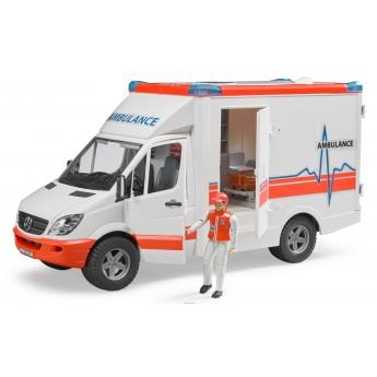 Машинка Bruder швидка допомога Mercedes Sprinter з водієм (02536)