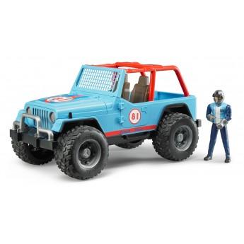Іграшка позашляховик Jeep Cross з гонщиком Bruder 02541
