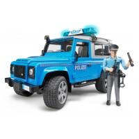 Іграшка позашляховик Land Rover з фігуркою поліцейського Bruder 02597