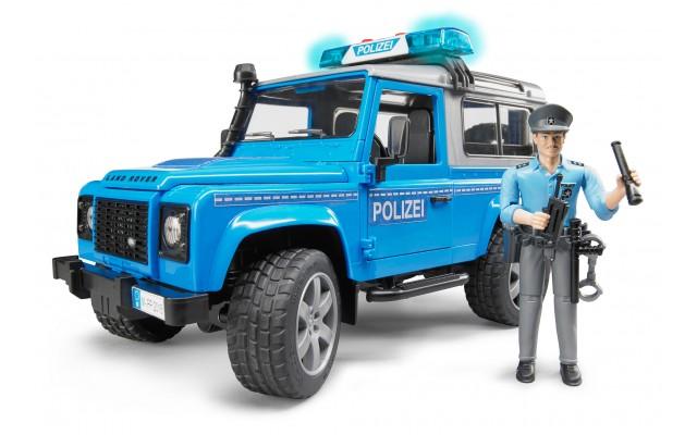 Игрушка Bruder внедорожник Land Rover с фигуркой полицейского (02597)