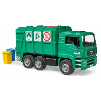 Іграшка сміттєвоз MAN TGA із заднім завантаженням Bruder 02753 зелений