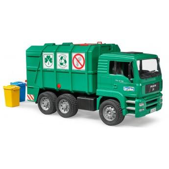 Игрушка Bruder мусоровоз MAN TGA с задней загрузкой зеленый (02753)