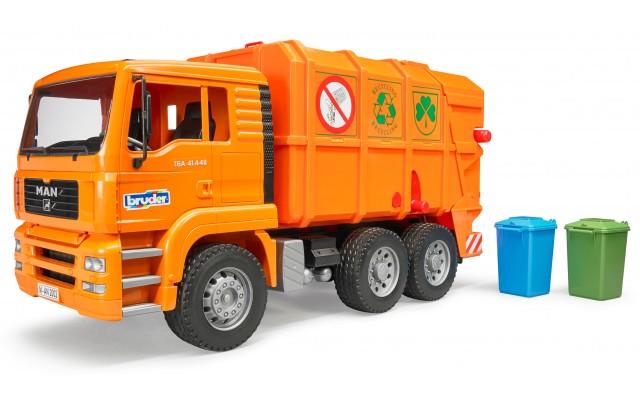 Игрушка Bruder мусоровоз MAN TGA с задней загрузкой (02760)