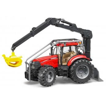 Игрушка Bruder трактор Case CVX 230 с манипулятором для бревен (03097)