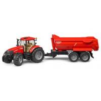 Игрушка Bruder трактор Case CVX 230 с прицепом Krampe (03099)