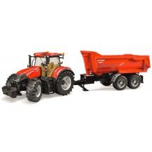 Игрушка Bruder трактор Case Optum 300CVX с прицепом Krampe Halfpipe (03199)