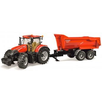 Іграшка трактор Case Optum 300CVX з причепом Krampe Halfpipe (Bruder 03199)