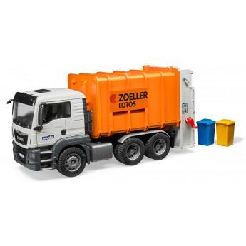 Іграшка сміттєвоз MAN TGS із заднім завантаженням Bruder 03762