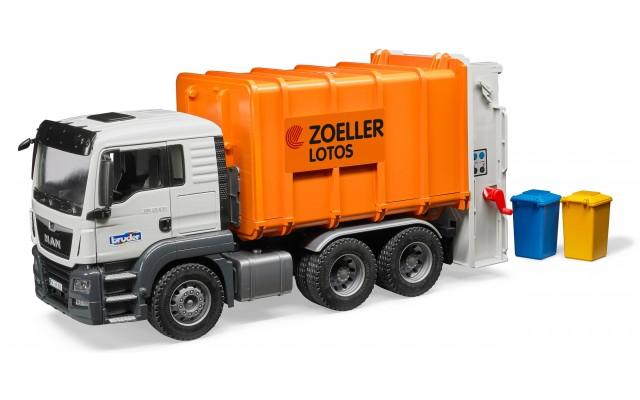 Игрушка Bruder  MAN TGS мусоровоз с задней загрузкой (03762)