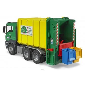 Іграшка сміттєвоз MAN TGS із заднім завантаженням Bruder 03764