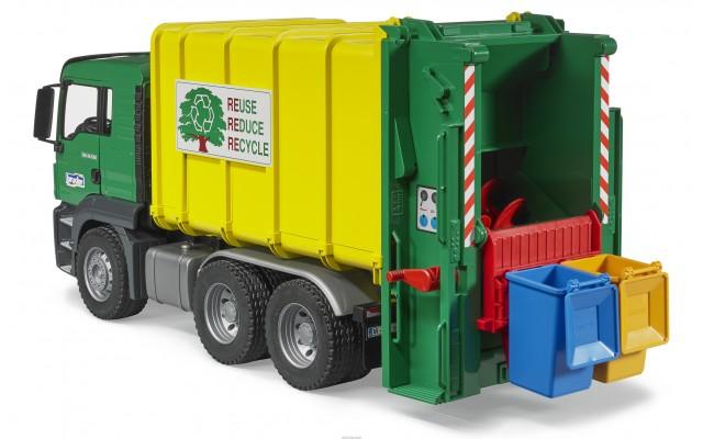Игрушка Bruder MAN TGS мусоровоз с задней загрузкой (03764)