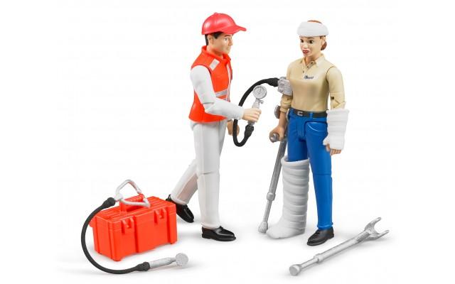 Фігурки: лікар швидкої допомоги та пацієнт Bruder 62710