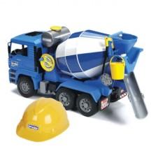 Іграшка бетоновоз MAN + каска Bruder 01638