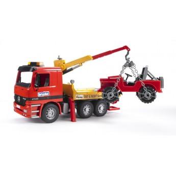 Іграшка евакуатор Mercedes з навантажувачем і позашляховиком Bruder 01666