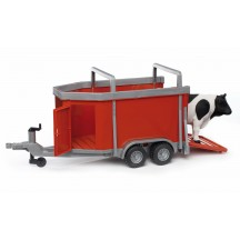 Іграшка причіп для перевезення тварин з коровою Bruder 02029