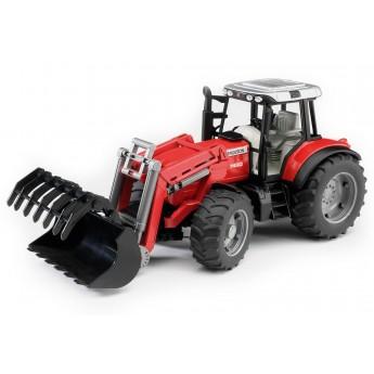 Игрушка Bruder трактор Massey Ferguson 7480 с погрузчиком (02042)