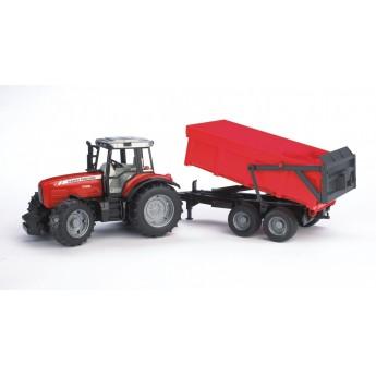 Игрушка Bruder трактор Massey Ferguson 7480 с прицепом-самосвалом (02045)