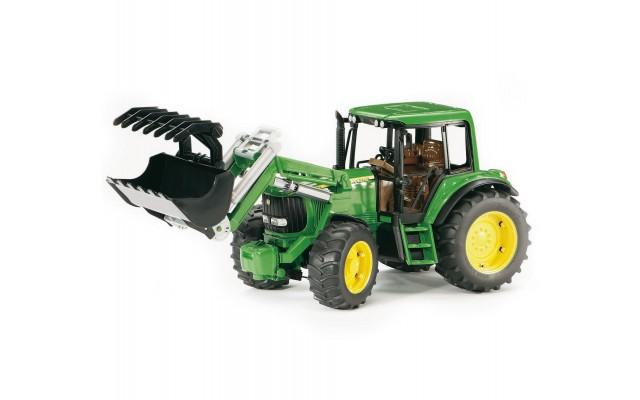 Игрушка Bruder трактор John Deere 6920 с погрузчиком (02052)