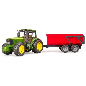 Іграшка Bruder трактор John Deere 6920 з причепом (02057)