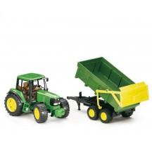 Іграшка трактор з причепом John Deere 6920 Bruder 02058