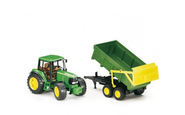 Игрушка Bruder трактор John Deere 6920 с прицепом (02058)