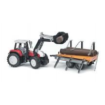 Іграшка тракторr з навантажувачем і причепом Steyr Bruder 02088