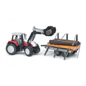Игрушка Bruder трактор Steyr с погрузчиком и прицепом (02088)