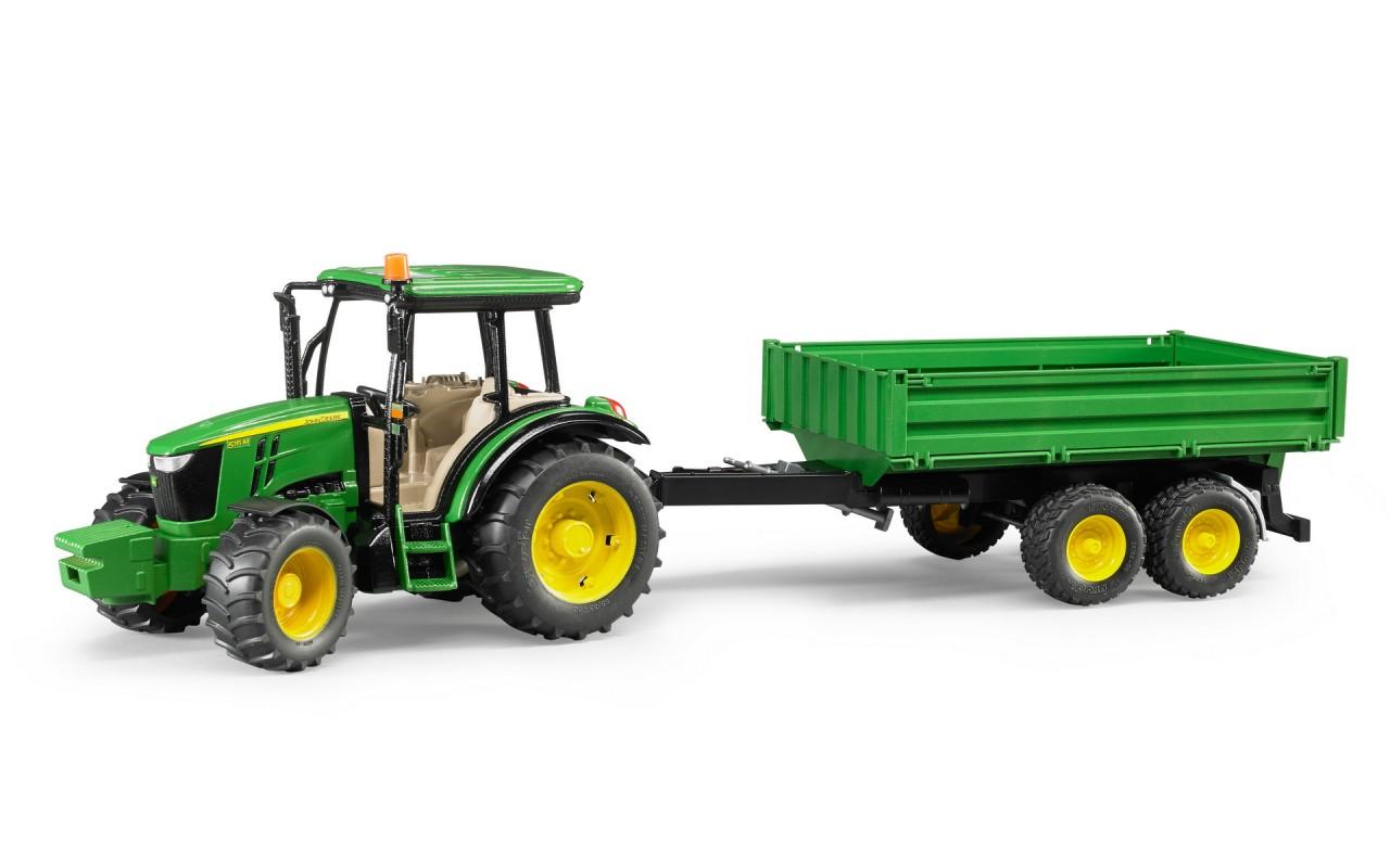 Игрушка Bruder трактор John Deere 5115 M с прицепом (02108)