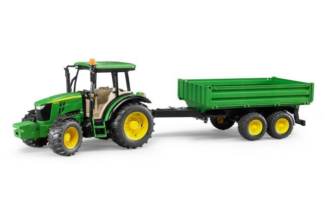 Іграшка трактор з причепом John Deere 5115 M Bruder 02108