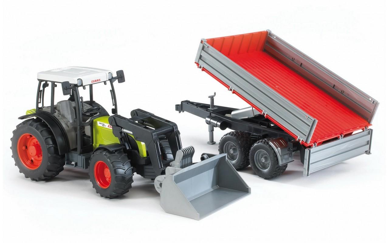 Трактор игрушечный BRUDER Трактор  Claas Nectis 267 F с погрузчиком и прицепом