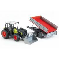 Игрушка Bruder трактор Claas Nectis 267 F с погрузчиком и прицепом (02112)