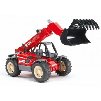 Іграшка навантажувач телескопічний Manitou MLT 633 з ковшем Bruder 02125