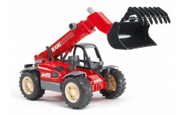 Игрушка Bruder погрузчик колёсный Manitou MLT 633 с телескопическим ковшом (02125)