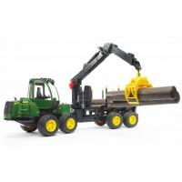 Іграшка трактор з причепом-маніпулятором і колодами John Deere 1210E Bruder 02133