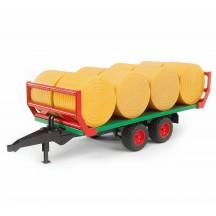 Іграшка причіп для рулонів + рулони Bruder 02220