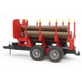Игрушка Bruder прицеп для перевозки леса с брёвнами (02251)
