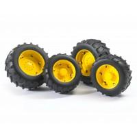Колеса с жёлтыми дисками к тракторам серии 2000 Bruder (02321)