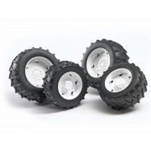 Колеса с белыми дисками к тракторам серии 2000 Bruder (02323)