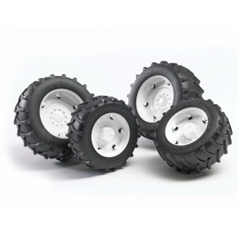 Колеса з білими дисками до тракторів серії 2000 Bruder 02323