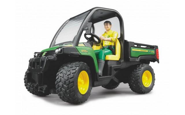 Іграшка міні-самоскид John Deere Gator XUV 855D c фігуркою Bruder 02490