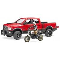 Іграшка Bruder джип Dodge RAM 2500 з мотоциклом Ducati (02502)