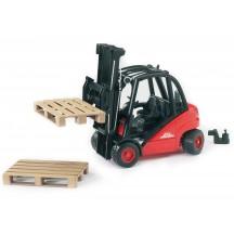 Іграшка навантажувач складської Linde H30D з піддонами Bruder 02511
