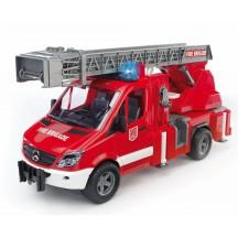Іграшка пожежна машина Mercedes Sprinter з драбиною і помпою + модуль Bruder 02532
